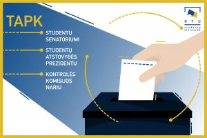 Kandidatuok į KTU SA prezidento ar KTU studento senatoriaus postą